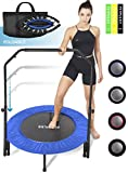 FITPULSE Mini Trampoline for Adults Rebounder Trampoline with Handle - 40' Workout Trampoline for Adults Fitness...