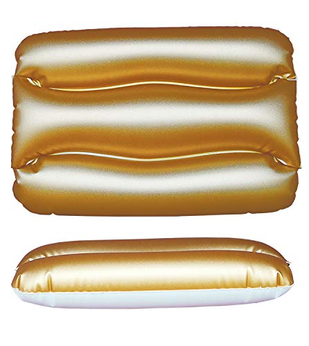 BEACHART C137, Cuscino Mare Unisex Adulto, Oro, 43x28