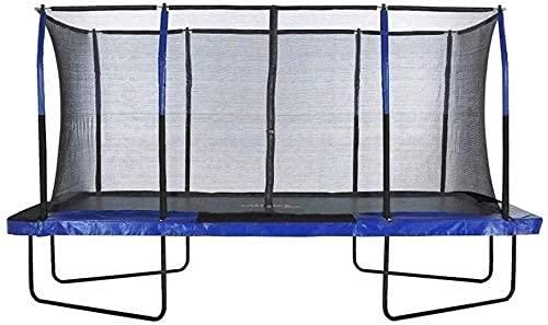 WXking - Trampolín de rectángulo Grande con Sistema de gabinete de Fibra Flexible, Red de Seguridad, Estera de Salto, Cubierta de Cubierta de Primavera para jardín y al Aire Libre - Easy Mesar