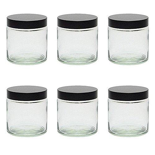 mikken Glas Tiegel Glastiegel, Silber, 6X 120ml, 10-Einheiten