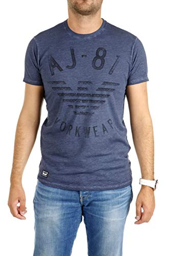Armani Jeans B6H12 MM I5 Slim Fit Print T-Shirt in Blu