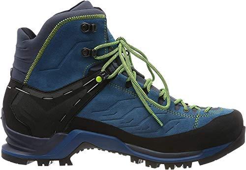 Salewa MS Mountain Trainer Mid Gore-TEX Trekking- & Wanderstiefel, Blau (Poseidon/Fluo Yellow 8968), 44.5 EU