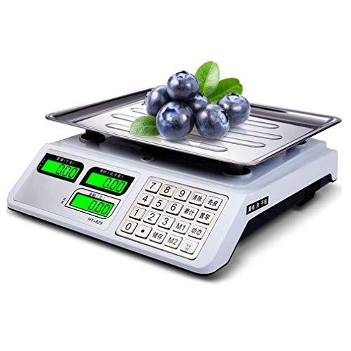 ZJZ Últimas básculas eléctricas, Pantalla LCD Impermeable de Acero Inoxidable aplicable Productos acuáticos de Frutas Vegetales expresan básculas multifuncionales