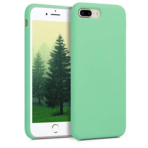 kwmobile Custodia Compatibile con Apple iPhone 7 Plus / 8 Plus - Cover in Silicone TPU - Back Case per Smartphone - Protezione Gommata Verde Menta