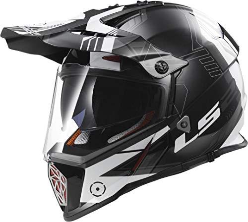 MX436 Pioneer Cross-Touring-Helm Trigger schwarz weiß 3XL - Motorradhelm