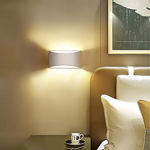 YWJPJ. Wandleuchte, LED Wandlampe Innen Up and Down Aluminium Innenleuchte, 7W Wandwaschanlage Nachtlicht Sensor für Flur Treppenhaus Garage Wohnzimmer Warmweiß