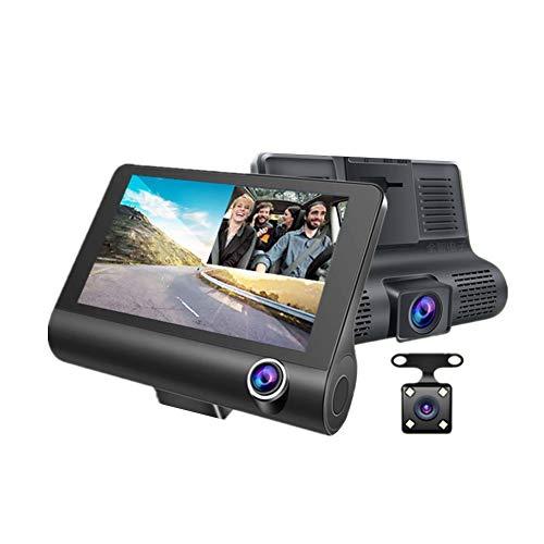 Dashcam Auto Dash Cam Dash Cam Anteriore E Posteriore Della Fotocamera Rilevatore di Autovelox Three lenses,One Size