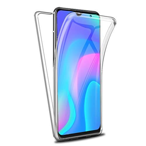 Reshias Funda para Xiaomi Poco M3 con Dos Cristal Templado Protector de Pantalla, Suave TPU Transparente Gel Silicona Anti-caída Protectora Carcasa para Xiaomi Poco M3 (6,53 Pulgadas)