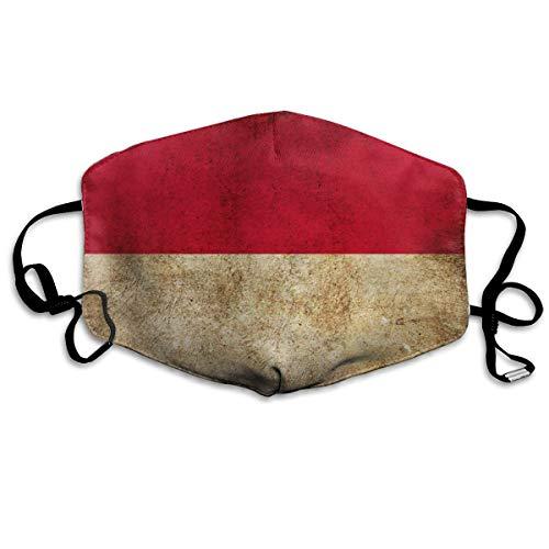 NA Outdoor Mond Gezicht Masker Leuke Indonesische Vlag Indonesië Vlaggen Kinderen Anti Stof Half Gezicht voor Kinderen Tieners Mannen Vrouwen Liefhebbers Stofdicht Verstelbare Oor Loops
