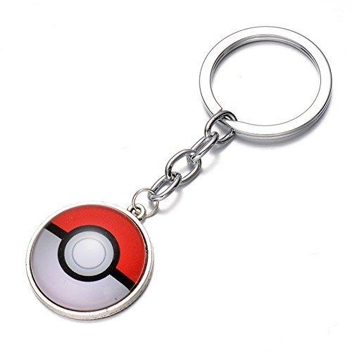 pokemon go! keychain Pokeball Metal keychain keyring PokÃÂmon keychain by pokekey