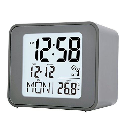 Acctim 71897 Cole Radio Controlled Alarm Clock in Grey