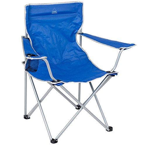 #0618 Campingstuhl Kompakter Faltstuhl Stabiler Rahmen Armlehne mit Flaschenhalter • Klappstuhl Gartenstuhl Stuhl Klappsessel Outdoor Sitz