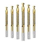 3-8m sierra de perforación de la brocha carpintería Bit diente de sierra de oro Broca espiral tornillo métrico 6PCS