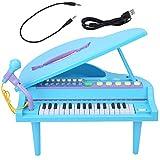 Juguete de piano, piano de cola, 32 teclas, instrumento de música eléctrico, piano, juguete educativo para niños, chico