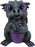 World of Wonders Grave Yard Series Dreamland Dragons | Collectible Dragon Figurine with Birth Certificate | Fantasy Home Decor Accent | 6inch Dragon Statue - Onyx