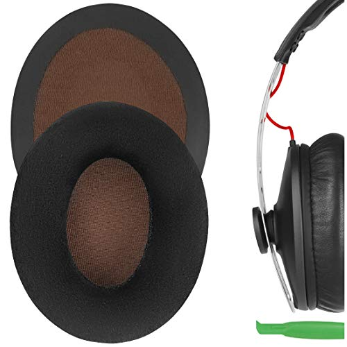 Geekria Comfort Velour - Almohadillas de repuesto para auriculares Sennheíser Momentum en la oreja, almohadillas para auriculares, piezas de reparación (terciopelo negro)
