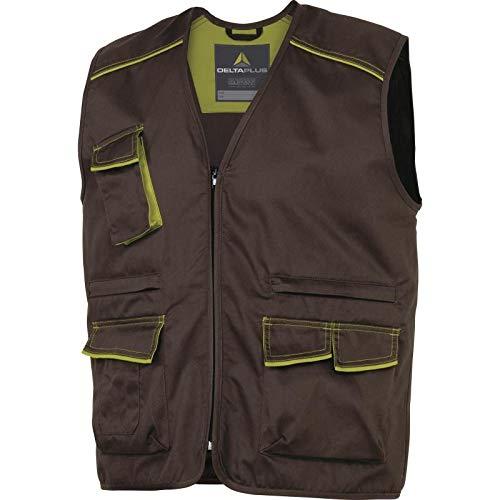 Delta Plus vest panostyle polyester katoen bruin groen maat XL
