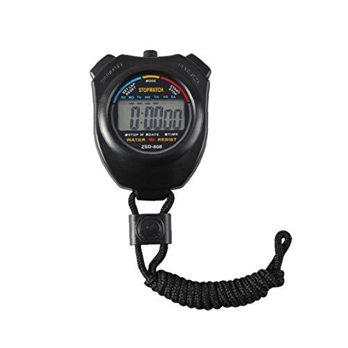 Hiinice Cronómetro Temporizador cronógrafo Reloj Deportivo Digital de Mano de múltiples Funciones de visualización electrónica Profesional de Deportes