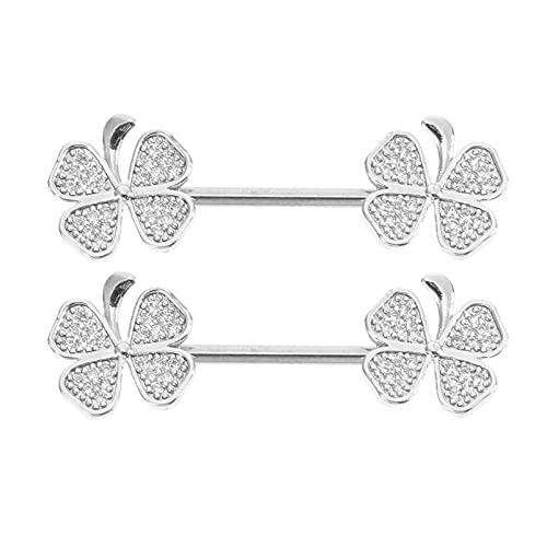 EXCEART 2 Piezas de Clips para Pezones de Diamantes de Imitación para Mujer Tachuelas para Pezones Clips Decorativos para El Pecho Joyería para Piercing Corporal para Mujer Hombre Juego