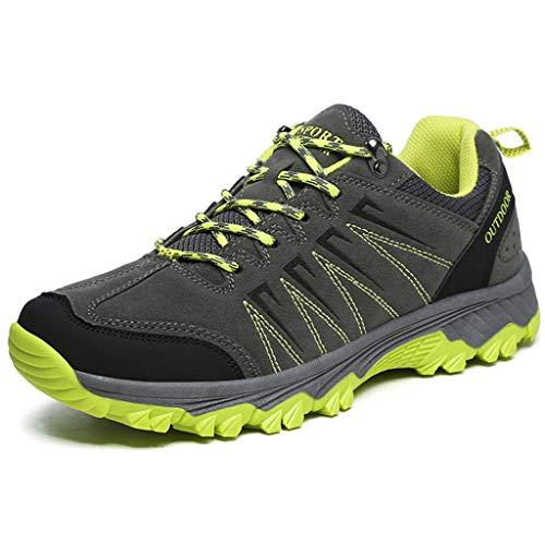 AONEGOLD Botas de Monta/ña para Hombre Zapatillas de Senderismo Trekking Zapatos al Aire Libre Calzado Antideslizante Botas Ante
