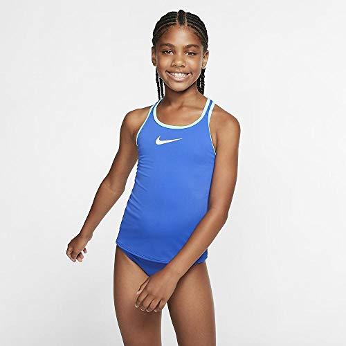 Nike Racerback Tankini für Mädchen M Spiel Königsblau