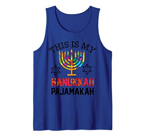 This is My Hanukkah Pajamakah funny hanukkah pajama gift Tank Top