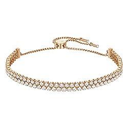 Swarovski Subtle Armband, Rosé Vergoldetes Damenarmband mit Funkelnden Swarovski Kristallen