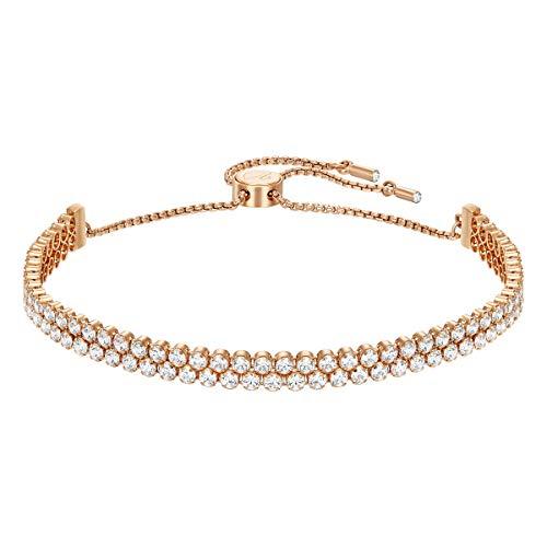 Swarovski Braccialetto Subtle, bianco, Placcato oro rosa