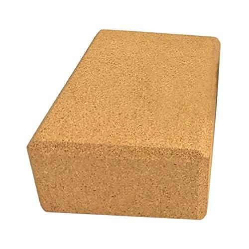 SPFCJL 3 bloques de yoga de corcho, deporte, gimnasio, ejercicio, madera, ladrillo, de yoga, bloque suave de alta densidad, para interior y deporte, ejercicio, fitness (color: 1 unidad)