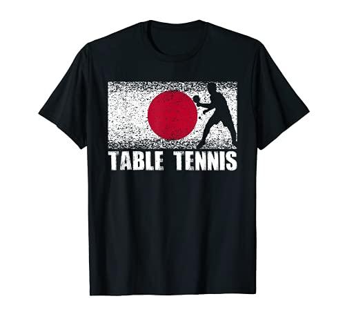 Deporte de tenis de mesa, bandera de Japón, jugador de ping Camiseta