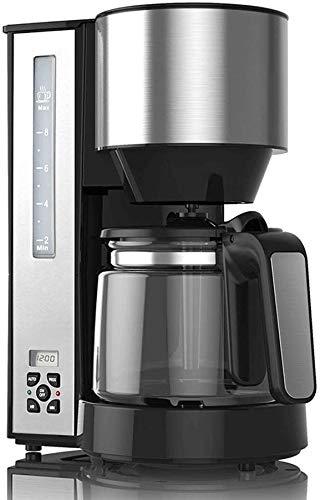 KaiKai Kaffee-Maschine, Kaffeemaschine Kaffeemaschine mit 1,25 l Glaskanne (12 Cups), Timer-Funktion, Trockengehschutz, mit LCD-Display, schwarz, for Espressokocher (Größe: Style B) (Size : Style B)