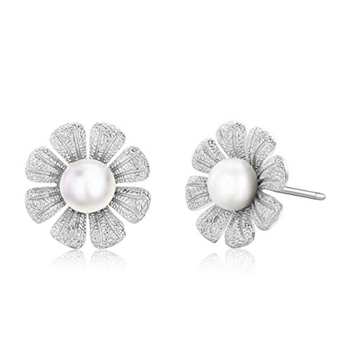 CHOUCHOU Colgante Pendientes Pendientes de Perlas de imitación de Flores en Pendientes for Las Mujeres Regalo de cumpleaños joyería Personalizada