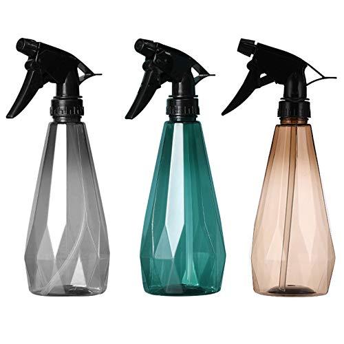 3Pcs Botellas de Spray 500ml Vacías Botella de Aerosol Plástico Spray Pulverizador Agua de Gatillo Botella Spray Vacios Contenedor rellenable transparente para Plantas Lejía Limpieza Jardinerí