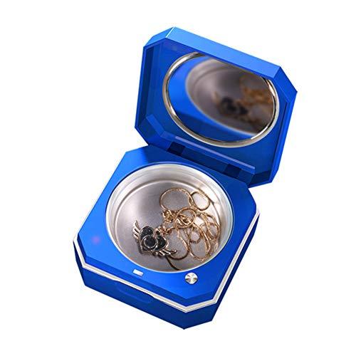 Lilingyu Schmuck Ultraschallreiniger Reinigungsmaschine für Schmuck Ring Schönheit Kontaktlinsen zu Hause und unterwegs den einfachen Transport Box,Blau