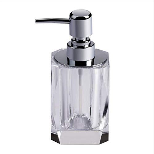 Aveo Seifenspender mit Diamanten, nachfüllbar, für Küche, Badezimmer, Toilette, Pumpe, Duschgel, Shampoo, Kristallglas, Lotion, Flasche, 100 ml, Seifenpumpe (Größe: 100 ml)