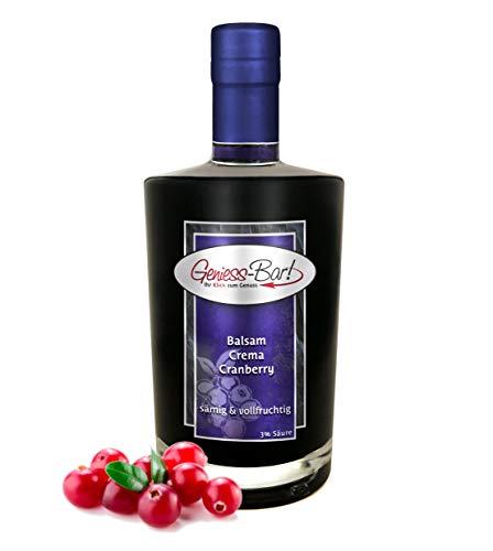 Balsamico Creme Cranberry 0,5L 3% Säure mit original Crema di Aceto Balsamico di Modena IGP