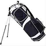 yaunli Bolsa de Golf Soportes de Golf Muestras Personalizadas Bolsas de Clubes Bolsa de Golf fácil de Transportar (Color : Black, Size : 9 Inches)