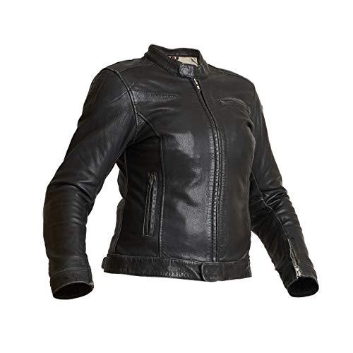 Halvarssons Motorradjacke Orsa Woman schwarz Damen Jacke Lederjacke Klasse AA, 38