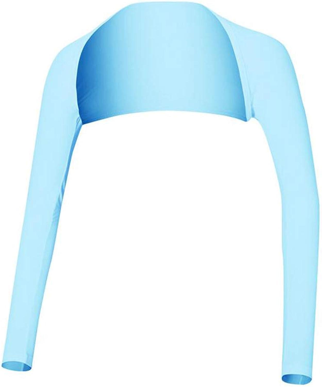 GUOxufei Frauen Schal Ice Silk Sleeves, Sommer Sonnenschutz UV, leichte Stretch und kühle atmungsaktive Kleidung, verwenden Sie alle Gelegenheiten,B,L