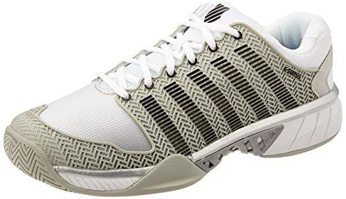 K-Swiss Men's Hypercourt Express Tennis Shoe (Gray/White/Silver, 7.5)