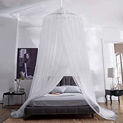 Aerb mosquito net bed, large mosquito net incl. Assembly material, headliner, mosquito repellent, mosquito repellent F, fly net also when traveling