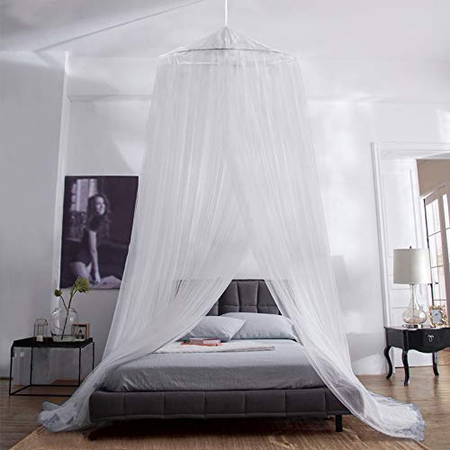 Aerb Mosquitera Cama, Mosquiteras Ligeras para Viaje, Cama de Matrimonio, Cama Individual, Cunas o Cama para Infantil contra Mosquitos y Insectos Instalacion Simple