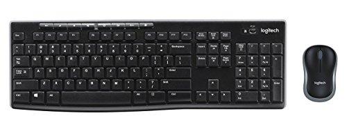 Logitech MK270 Kabelloses Tastatur-Maus-Set, 2.4 GHz Wireless Verbindung via Nano USB-Empfänger, Lange Akkulaufzeit, Für Windows und ChromeOS, Spanisches QWERTY-Layout - schwarz