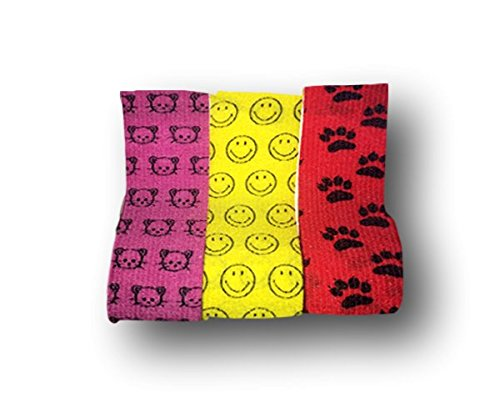 Lisa Care kohäsive vendaje venda–Sport–Tiritas infantiles–Vendajes | selbsthaftend | vendaje elástico | extensible | impermeable–Juego de 3–5cm de ancho x 4,5m extensible con motivos gato