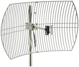 Premiertek Outdoor 2.4GHz 24DBI Directional High-Gain N-Type Female Aluminum Die Cast Grid Parabolic Antenna (ANT-GRID-24DBI)