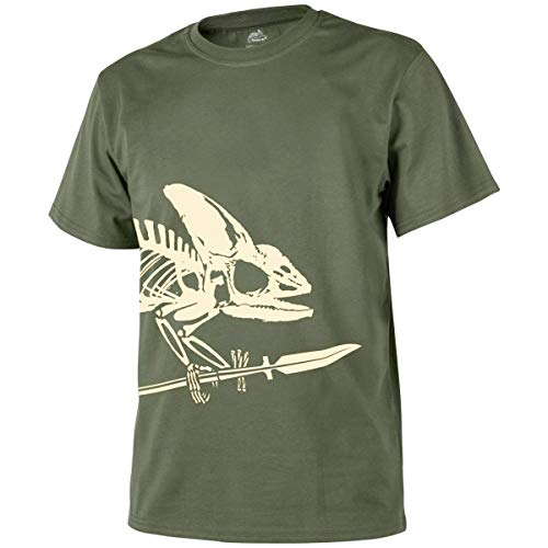Helikon-Tex Uomo Full Body Skeleton T-Shirt Verde Oliva Taglia M