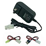 RC Car Battery Charger for NiMH/NiCd Battery Packs Charger, 9.6V 7.2V 8.4V Battery Charger with Tamiya Plug Charger for Traxxas NiMH Batteries and Airsoft Battery