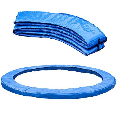 Femor Reemplazo Trampolín Almohadilla Protectora, 244/305/366 cm, Cubierta de Protección, Cubierta de Resorte para Cama Elástica, Resistente a los Rayos UV, Color Azul
