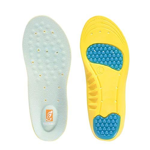 Lcjtaifu Komfort-Einlegesohle Orthopädische Einlegesohlen in voller Länge mit Fußgewölben, Mittelfuß- und Fersenkissen zur Behandlung der Plantarfasziitis (Color : Yellow, Size : S)