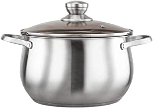 SHYPT Professional Master Chef Stainless Steel Bonded Oven Safe Saucepan with Lid Cookware (Size : 22cm)